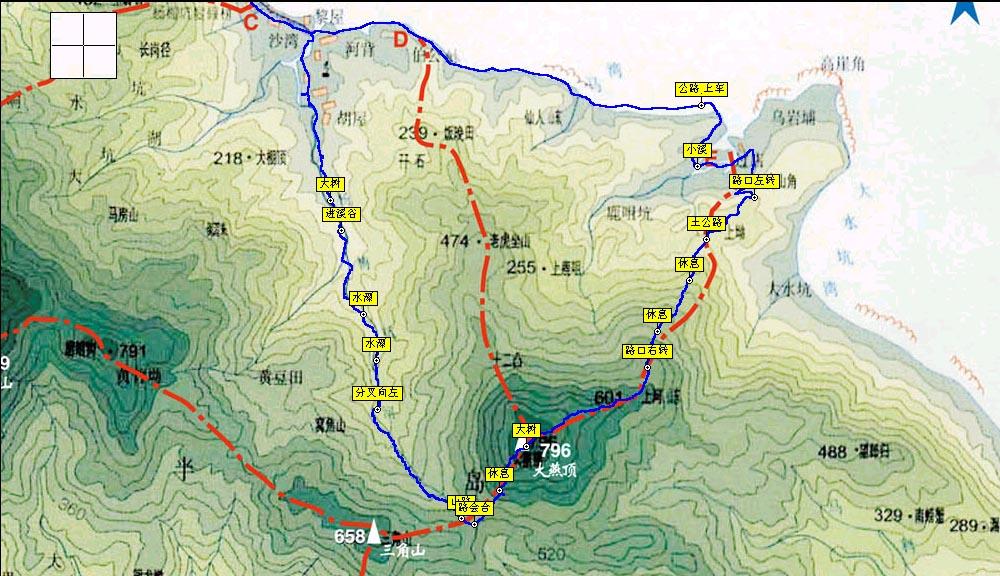 梧桐山登山路线_梧桐山地图线路展示_地图分享